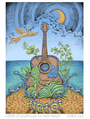 Haiti Charity Relief Screen Print by Emek