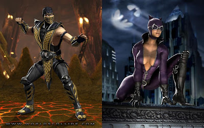 Mortal Kombat vs. DC Universe - Scorpion and Catwoman
