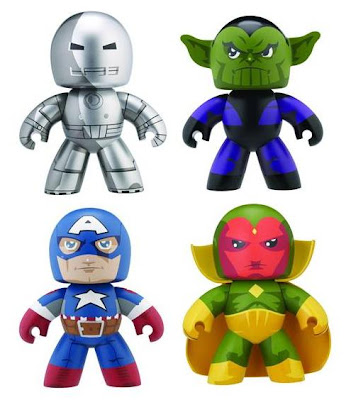 Marvel Legends Mighty Muggs Wave 5 - Iron Man Prototype Armor, Skrull, Ultimate Captain America & Vision
