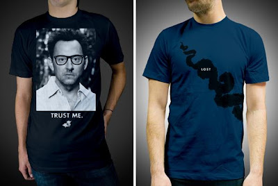 Damon, Carlton and a Polar Bear Limited Edition Lost T-Shirts - Trust Me by Marky of Glamour Kills & Smoke by Brandon Rike