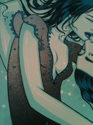 Damon, Carlton and a Polar Bear Lost Season 6 Screen Print #6 - Jin & Sun by Tara McPherson Metallic Inks Close-up