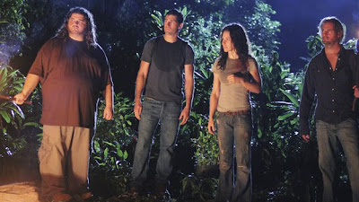 Lost - What They Died For - Jorge Garcia as Hugo 'Hurley' Reyes, Matthew Fox as Jack Shephard, Evangeline Lilly as Kate Austen & Josh Holloway as James 'Sawyer' Ford