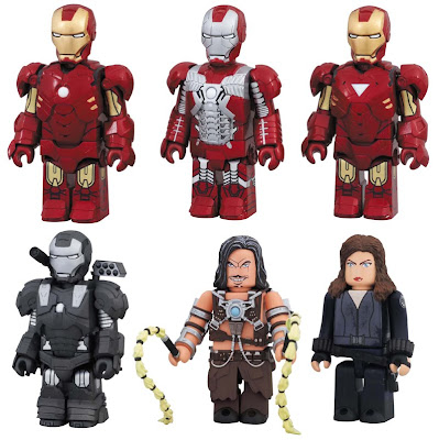 Iron Man 2 Kubrick Series - Iron Man Mark IV, Iron Man Mark V, Iron Man Mark VI, War Machine, Whiplash & Black Widow