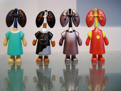 Organ Donors by FOOX Vinyl Figures - Lungs: The Lungs, Smoker's Lungs, Iron Lungs & The Invincible Lungs