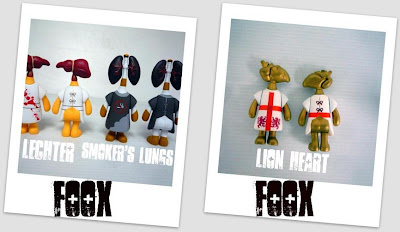 Organ Donors by FOOX Vinyl Figures - Lechter Liver, Smoker's Lungs and Lion Heart of Gold