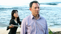 Lost - Namaste - Yunjin Kim as Sun Kwon about to hit Ben Linus (Michael Emerson) with a paddle