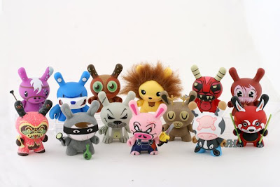 Kidrobot - Photo of the Complete 3 Inch Endangered Dunny Series