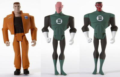 Justice League Unlimited San Diego Comic Con 2009 Exclusive Green Lantern Origins 3 Pack - Hal Jordan, Abin Sur & Sinestro loose figures