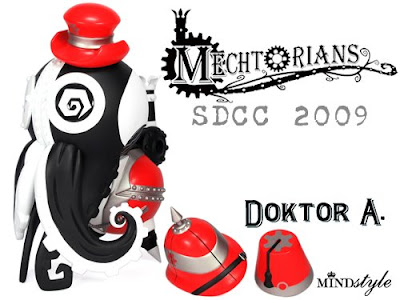 MINDstyle - San Diego Comic Con 2009 Exclusive 8 Inch Stephan LePodd Mechtorians Vinyl Figure by Doktor A