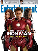 Entertainment Weekly San Diego Comic Con Edition: July 24, 2009 Issue - Iron Man 2 Cover featuring Scarlett Johansson as Black Widow, Robert Downey, Jr. as Tony Stark-Iron Man & Mickey Rourke as Whiplash