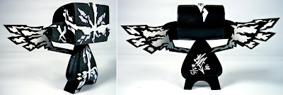 Custom Hand Painted 5 Inch Stealth Guardian Mad'ls by MAD Side and Back View