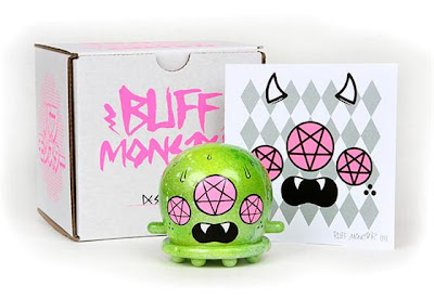 Designer Con Exclusive Hand Painted Glow In The Dark 3 Inch Buff Monster Vinyl Figure Set