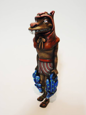 Lost Underground Art Project at Gallery 1988 - Custom Taweret Resin Statue by Scribe