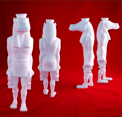 Lost Underground Art Project at Gallery 1988 - Unpainted Custom Taweret Resin Statues