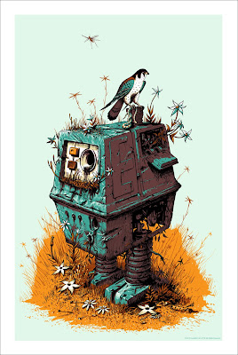 Mondo Star Wars Screen Print Series #1 - Scrap Yard Power Droid by Jeff Soto