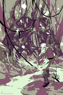 Mondo Star Wars Screen Print Series #3 - Father: Encounter on Dagobah by Tomer Hanuka