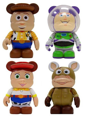 Disney Vinylmation Toy Story 3 Inch Series - Woody, Buzz Lightyear, Jessie & Bullseye