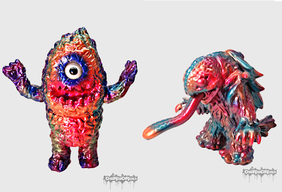 Custom Melon Burst Zudon & Custom Tropical Terror Marnon Vinyl Figures by OsirisOrion