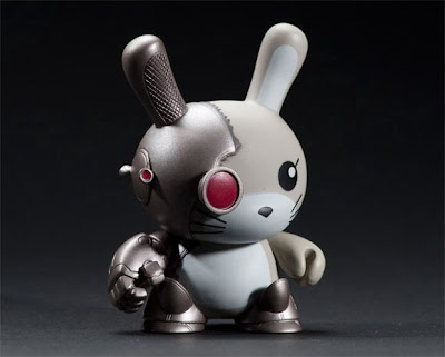 Kidrobot 2tone Dunny Series - Cyborg 3 Inch Dunny by Chuckboy