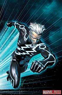 Marvel Comics - Avengers Academy #7 TRON Legacy Variant Cover featuring Quicksilver by Brandon Peterson