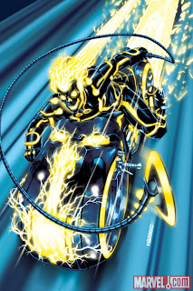 Marvel Comics - Incredible Hulks #618 TRON Legacy Variant Cover featuring Ghost Rider by Mark Brooks