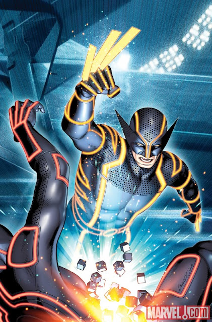Marvel Comics - Wolverine #4 TRON Legacy Variant Cover featuring Wolverine by Brandon Peterson