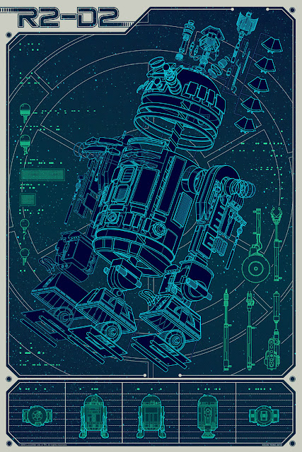 Mondo Star Wars Screen Print Series #14 - A Linch Pin Droid by Kevin Tong