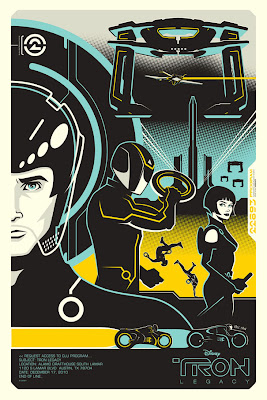 TRON: Legacy Screen Print by Eric Tan