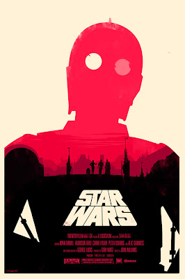 Mondo Star Wars Screen Print Series #18 - The Original Star Wars Trilogy Set by Olly Moss - Star Wars