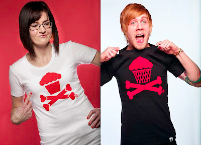 Johnny Cupcakes Valentine's Day 2011 Releases - Valentines Crossbones & Red and Black Basketball Crossbones T-Shirts