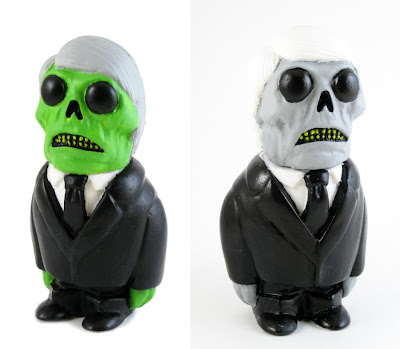 Men In Black Formaldehyde Face Resin Figures by Motorbot - Classic 50's Green and Modern Grey