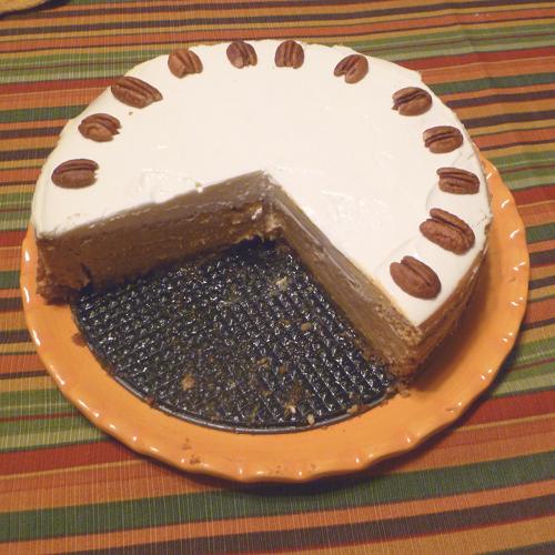 Cookistry: Bourbon Pumpkin Cheesecake