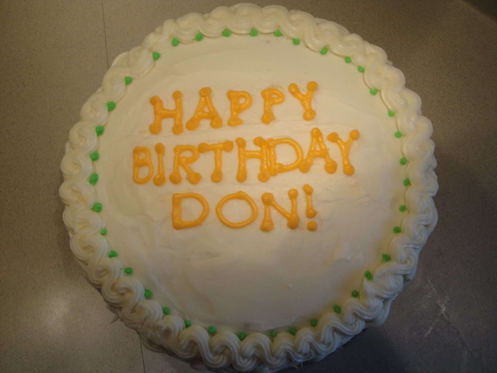 Happy Birthday Donald Cake