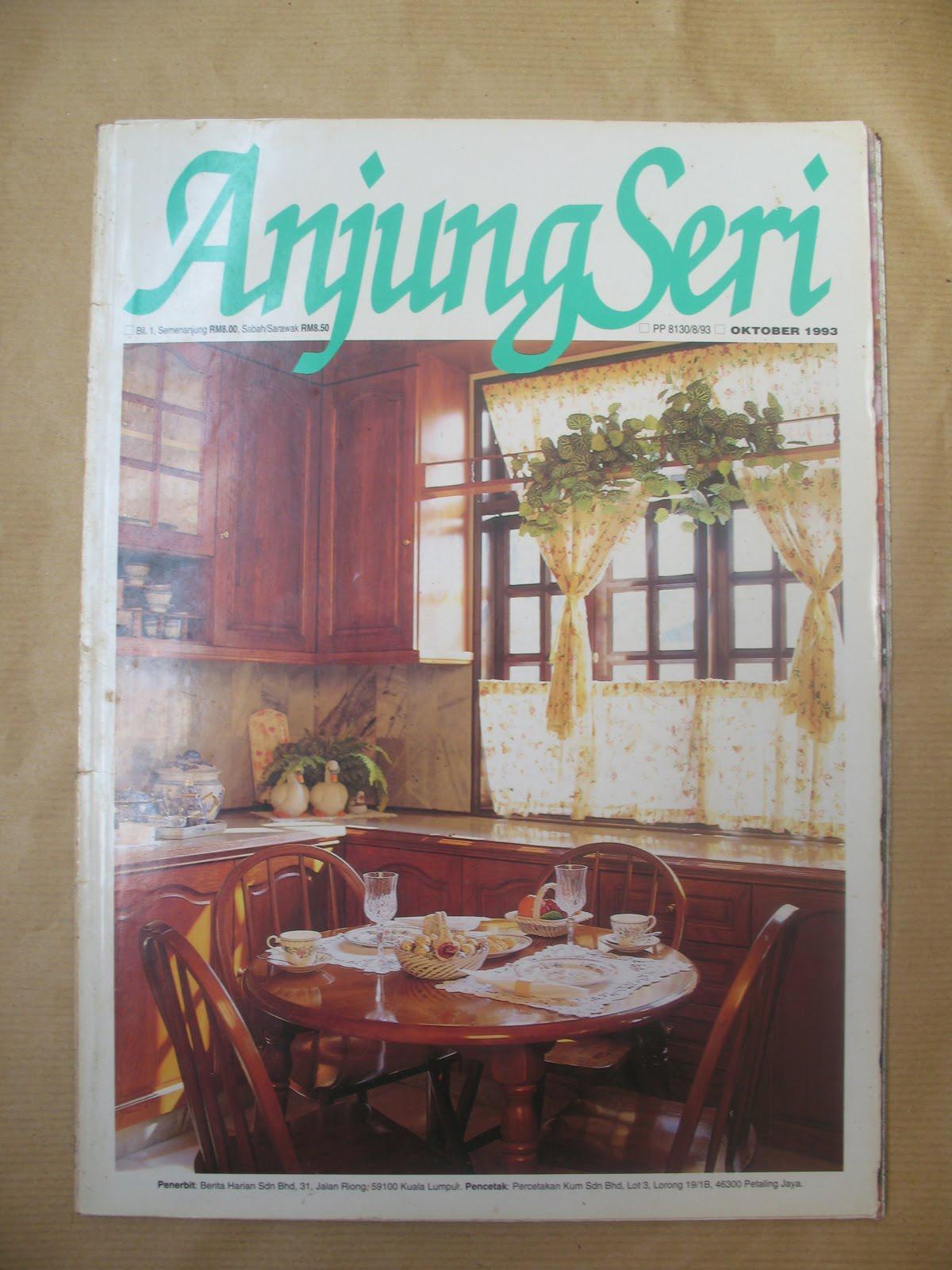 Gambar Pada Kulit Hadapan Majalah Menunjukkan Gambaran Sebuah Dapur Untuk Makluman Anjung Seri Ini Merupakan Berbahasa Melayu Yang