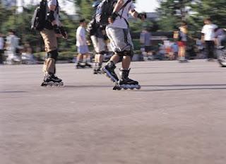 Group of Individuals Skating