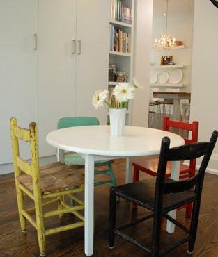 Mismatched Kitchen Chairs