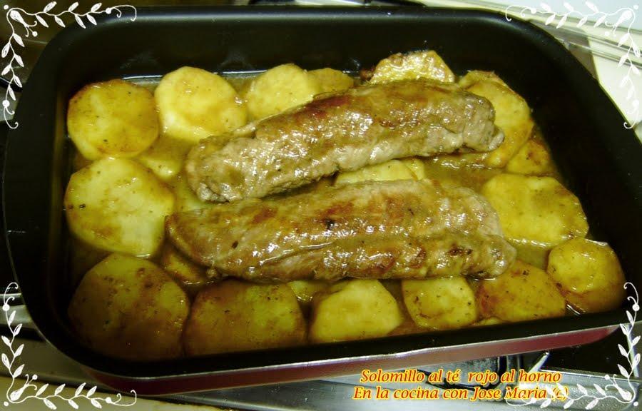 En la cocina con jose mar a solomillo de cerdo a la salsa - Solomillo a la pimienta al horno ...
