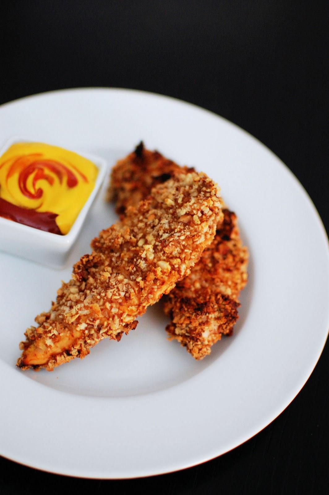 Crunchy Nut Encrusted Chicken Tenders Beantown Baker