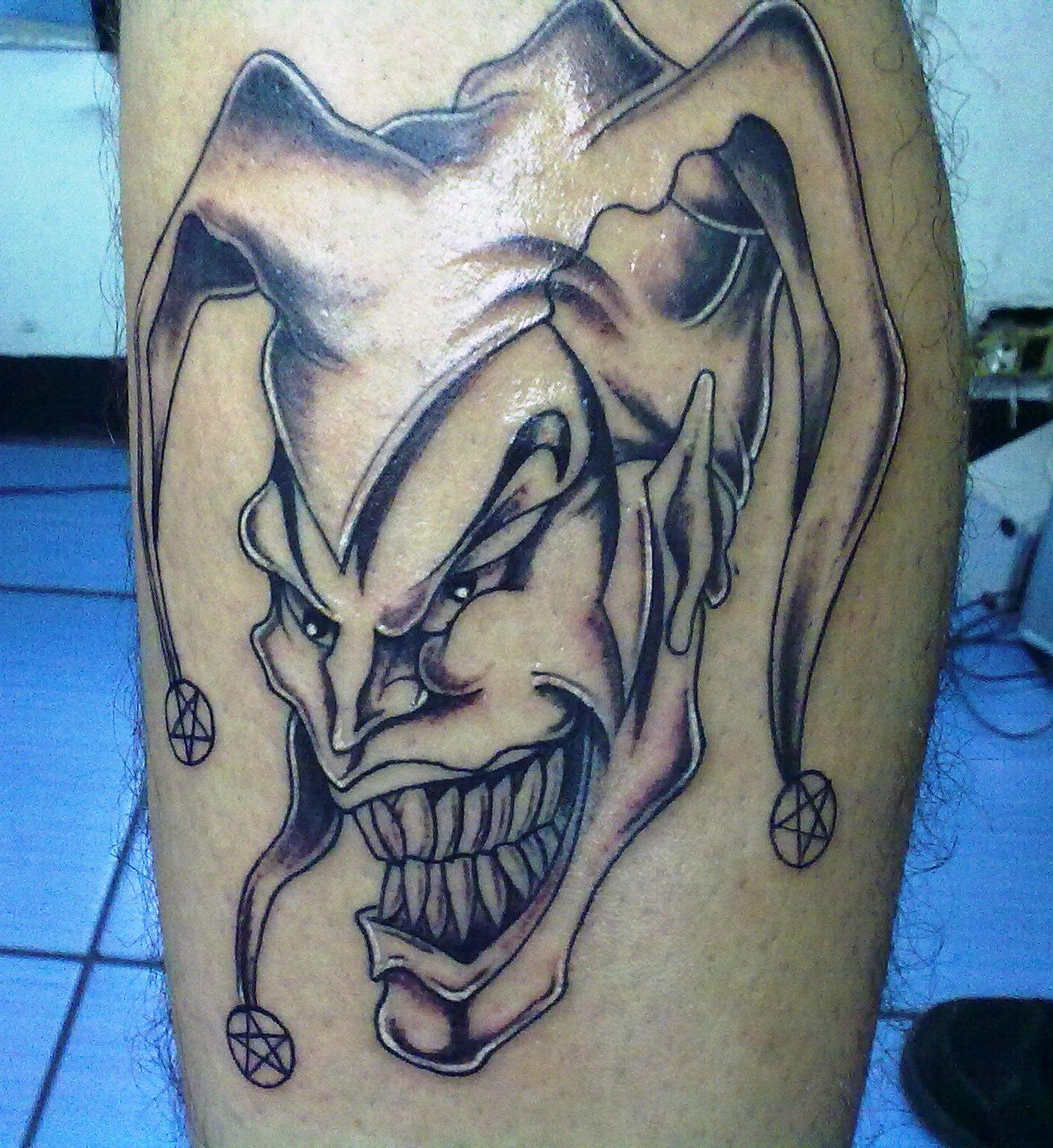 Tradicionales Tatuajes De Payasos Diabolicos Tatuajes Para Hombres