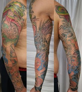 half sleeve japanese tattoos