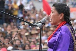 Resultado de imagen para Magdalena García, indígena mazahua, integrante del CNI