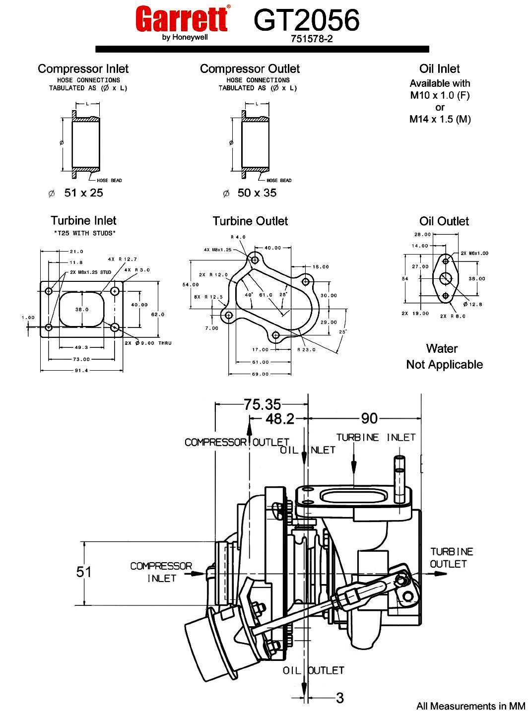 Turbocharger Specs Garrett Gt20
