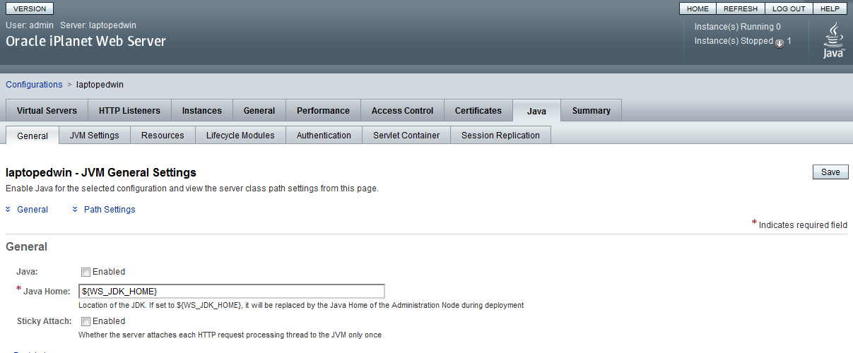 Java / Oracle SOA blog: Using the Oracle IPlanet Web & Proxy
