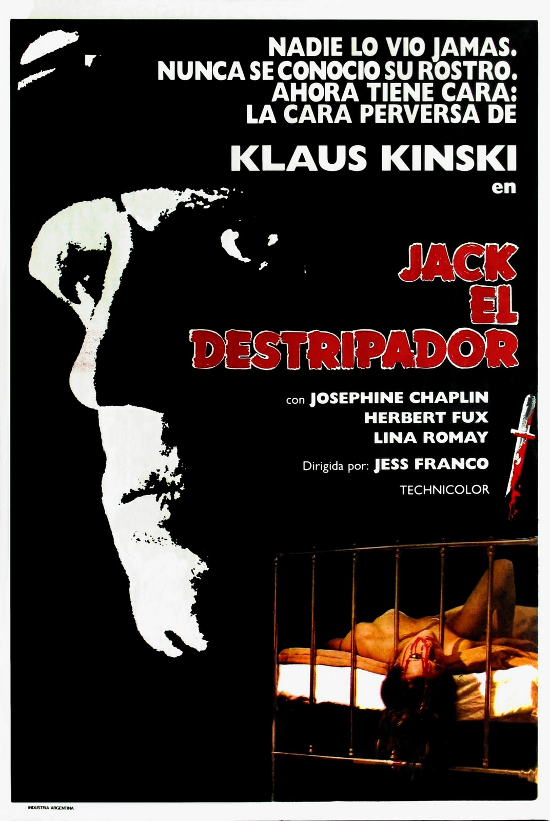 Jack The Ripper 1976 Movie Poster Starring Klaus Kinski