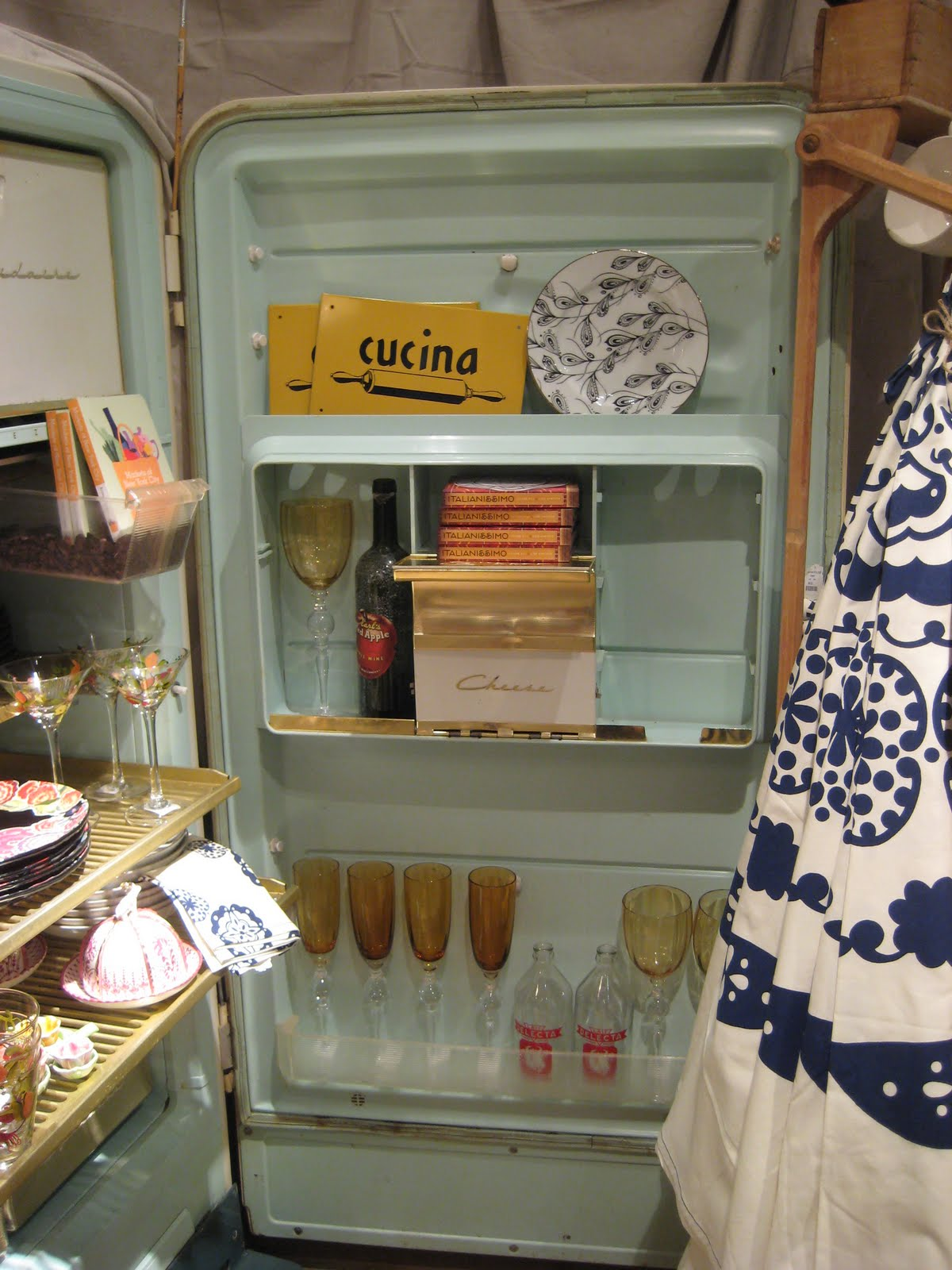 Display Shelves For Collectibles >> C. Dianne Zweig - Kitsch 'n Stuff: Using An Old 1950's Refrigerator As A Showcase For Your ...