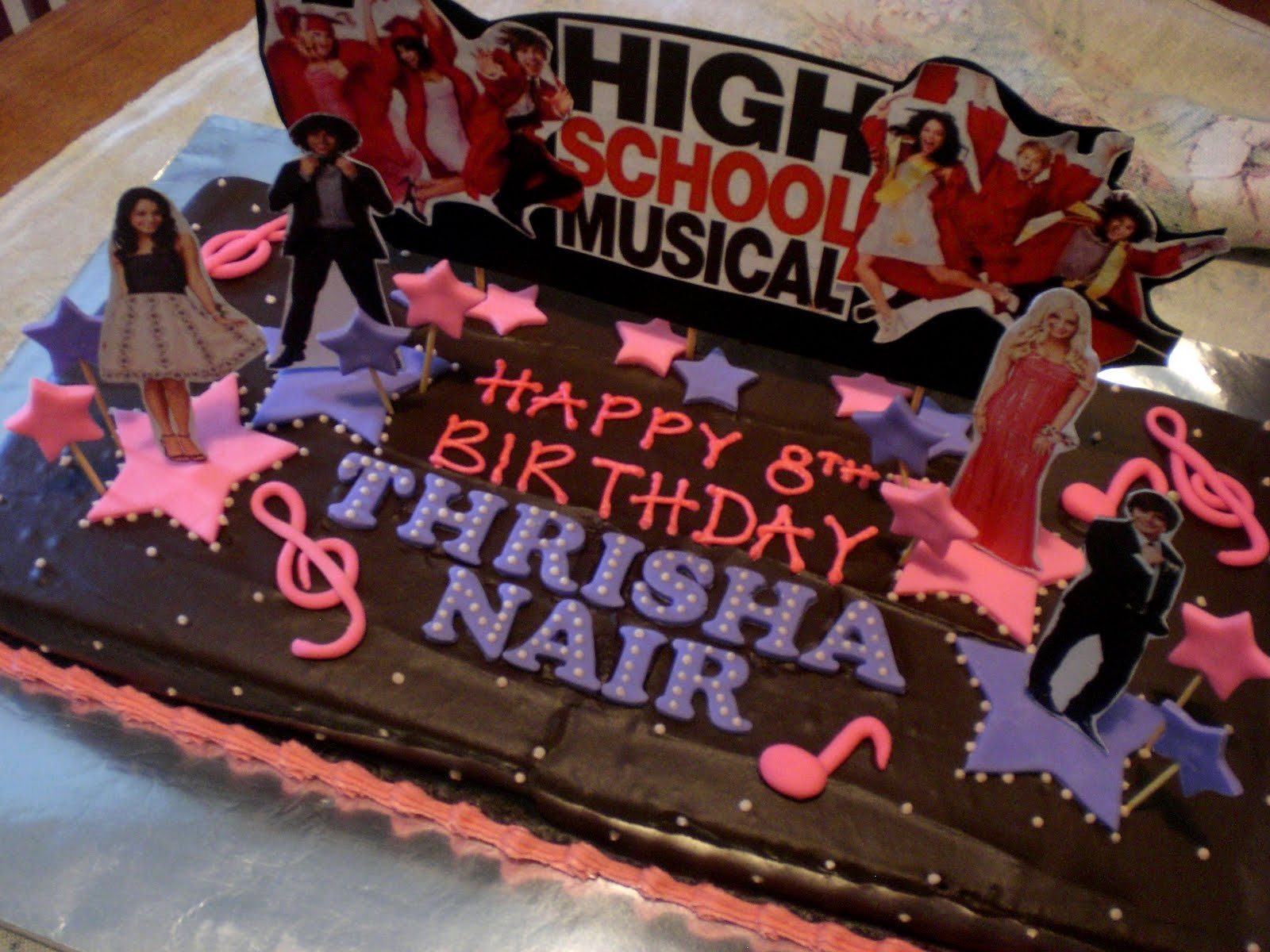 Sugar Rush High School Musical Birthday Cake
