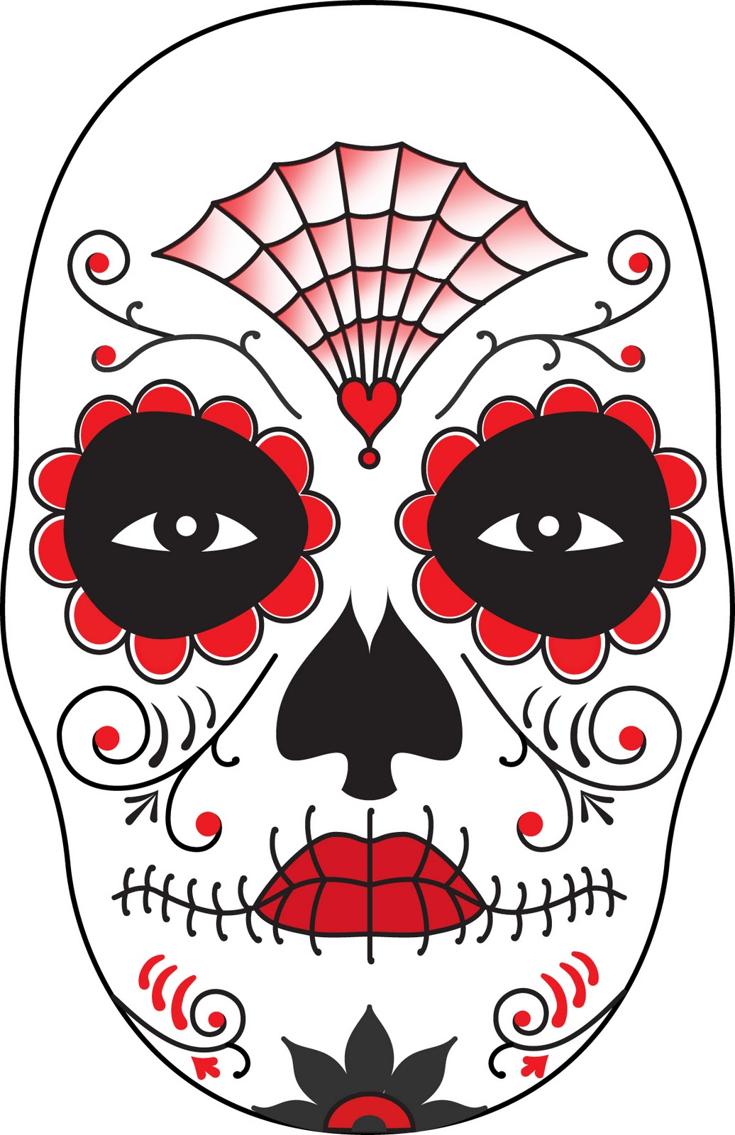 Eyeshadow Template: Surface Fragments: How To Make A Day Of The Dead Mask