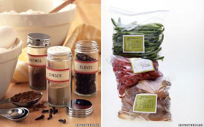 Martha Stewart Spice and Freezer Labels