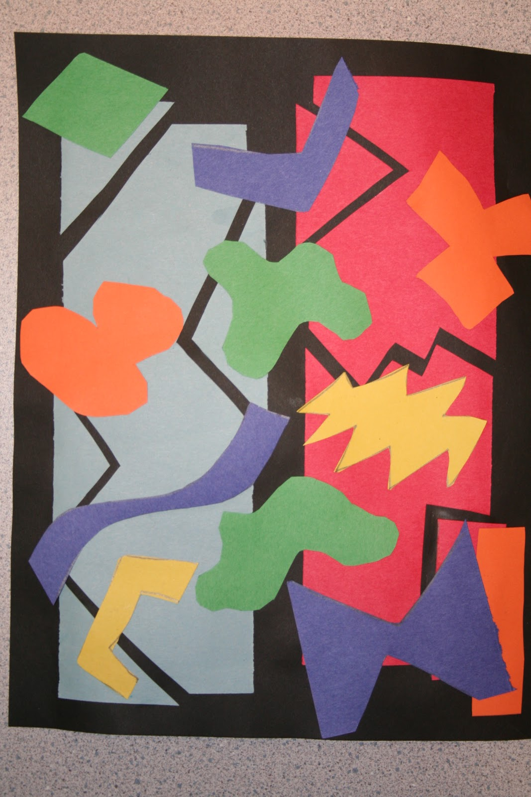My Messy Art Room 4th Grade Matisse Cut Outs
