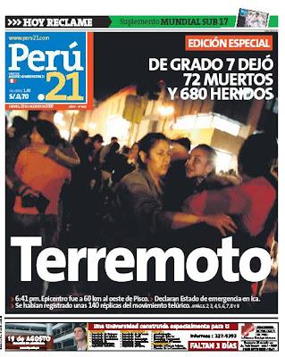 Hedendaags CRONICAS AYACUCHANAS. Educando en valores: TERREMOTO: RED DE DJ-24